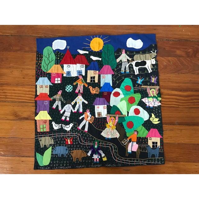 Handmade Columbian Folk Art Embroidery - Image 2 of 6