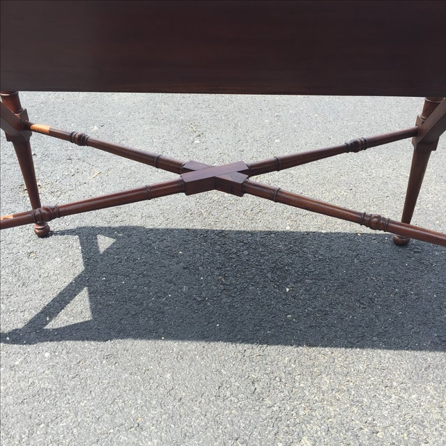 Mahogany Bamboo Chippendale Magazine Table - Image 10 of 10