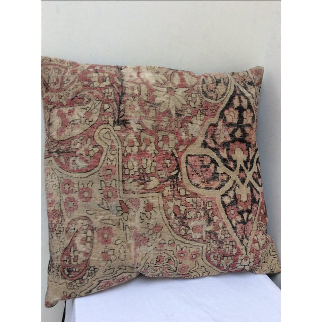 Antique Large Rug: Large Antique Rug Fragment Pillow