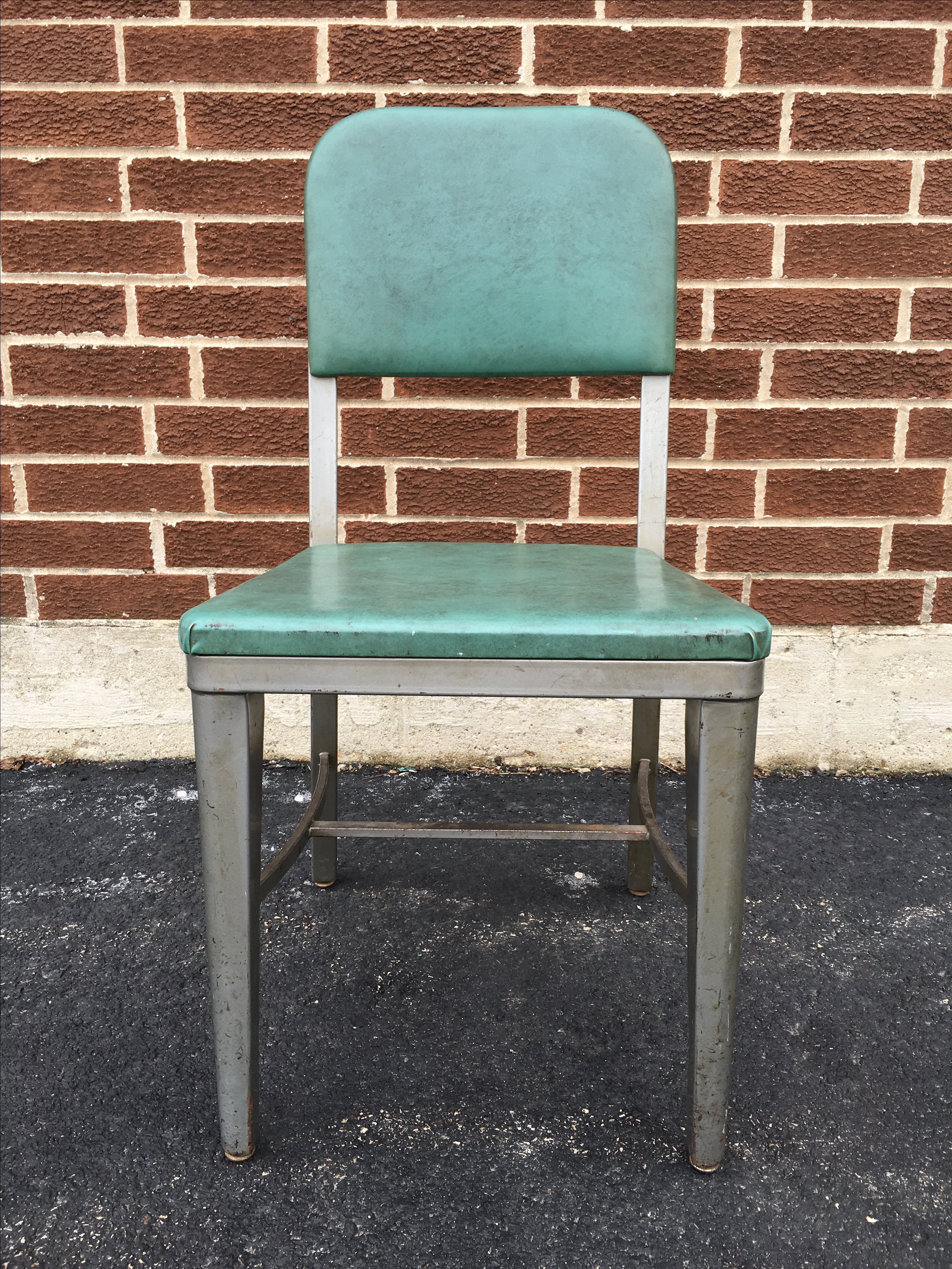 Charming Vintage Industrial Metal Lux Desk Chair   Image 2 Of 9