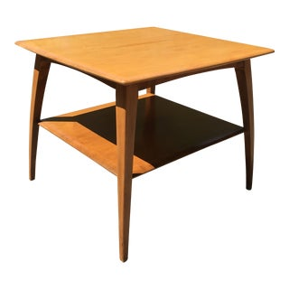 1950s Heywood-Wakefield Original Wheat Finish Tiered End Table For Sale