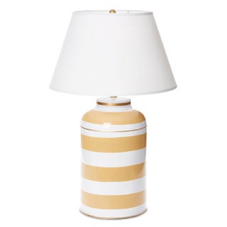 Dana Gibson Striped Tea Caddy Lamp For Sale