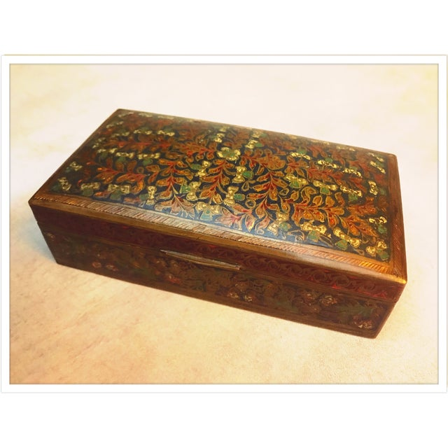 Antique French Enamel Champleve Box For Sale - Image 4 of 11