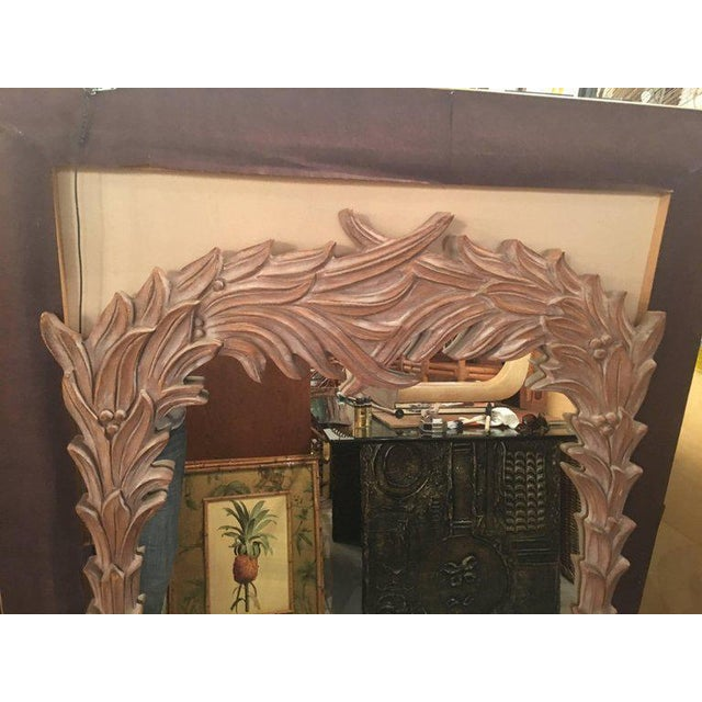 Vintage Palm Frond Wall Mirror - Image 3 of 9