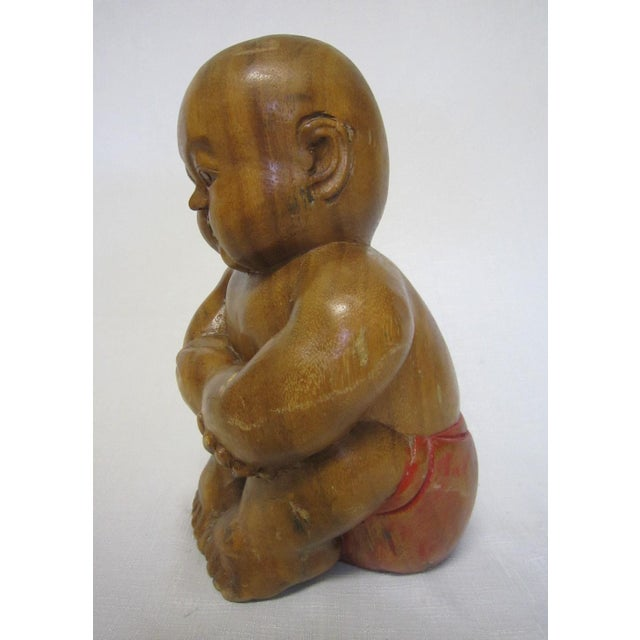 Chinese Wood Figure - Image 5 of 6