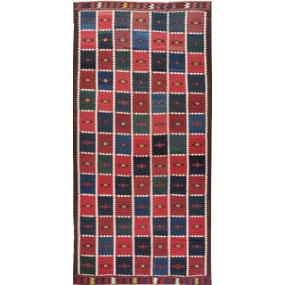 Apadana - Vintage Persian Kilim Rug, 10' x 20' For Sale
