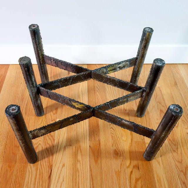Paul Evans Welded Metal Coffee Table Chairish - Welded coffee table