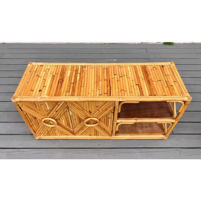 Vintage Rattan Bar/Buffet/Sideboard For Sale In New York - Image 6 of 9