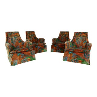 Swivel Chairs by Heritage Set of 4 For Sale