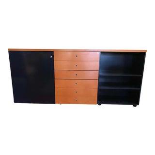 Multi Function Orange and Dark Blue Credenza by Castelijn For Sale