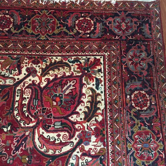 "Vintage Persian Heriz Rug - 9'8"" x 13' - Image 6 of 6"