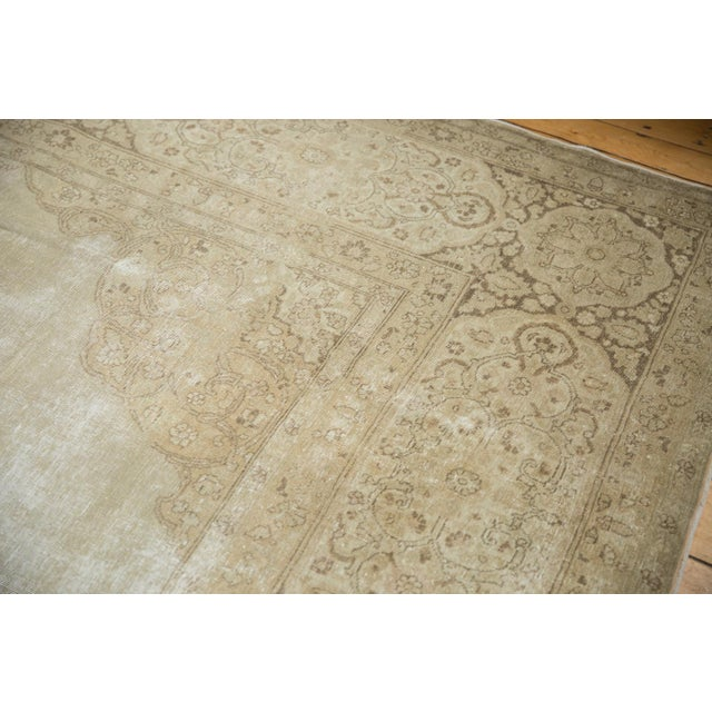 """Vintage Distressed Tabriz Carpet - 9' X 12'9"""" For Sale - Image 11 of 13"""