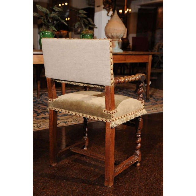 French Walnut Armchair, circa 1720 For Sale - Image 5 of 7