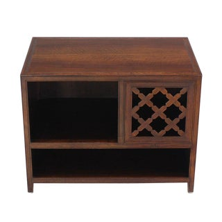 Baker Walnut End Table Stand Accent Side Table. For Sale