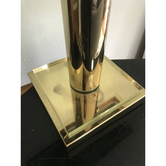 1980s Modern Brass and Lucite Desk Lamp For Sale - Image 4 of 6
