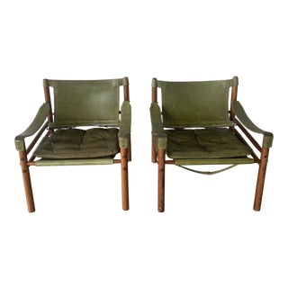 1960s Vintage Arne Norell Sirocco Chairs- A Pair For Sale