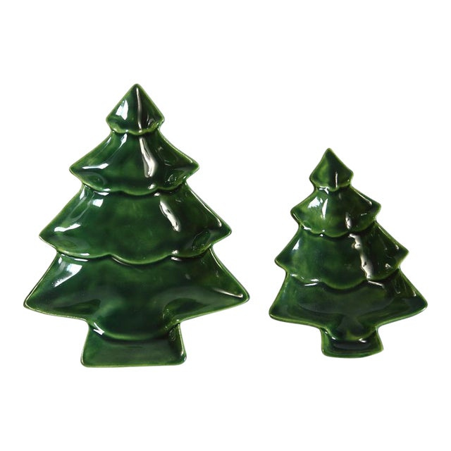 Small Nesting Christmas Trees - A Pair For Sale