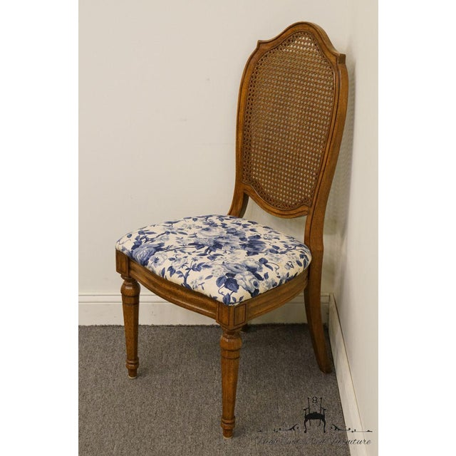 French Country Thomasville Furniture Tapestry Collection Cane Back Dining / Side Chair For Sale - Image 3 of 12