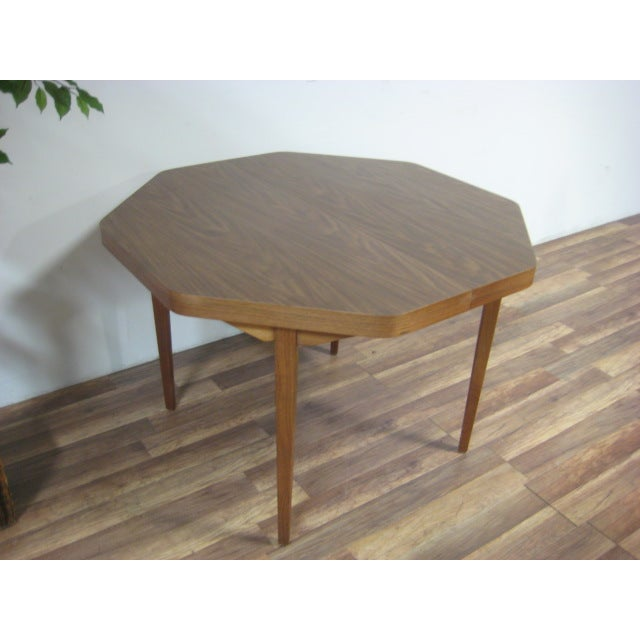 Vintage Dual Leaf Teak Dining Set - Image 10 of 11