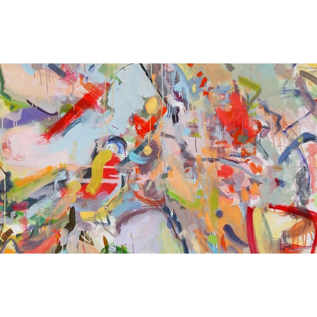 """Abstract Gina Werfel """"Tumble"""" Oil Painting For Sale - Image 3 of 4"""