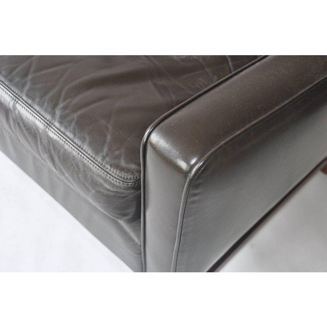 Fredrik Kayser Leather and Rosewood Sofa For Sale In Boston - Image 6 of 8