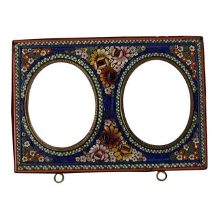 Antique Italian Micro Mosaic Grand Tour Picture Frame