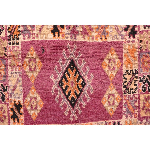 "Rug handmade by the Berber women of the Talsint tribe. Type of Rug: Talsint Size: 6'6"" x 13'3"" feet / 197 x 404 cm..."