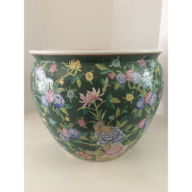 Late 20th Century Late 20th Century Chinese Fish Bowl Planter For Sale - Image 5 of 13