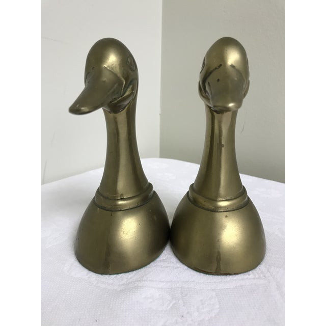 1960s Vintage Brass Dick Head Bookends- A Pair For Sale - Image 4 of 8