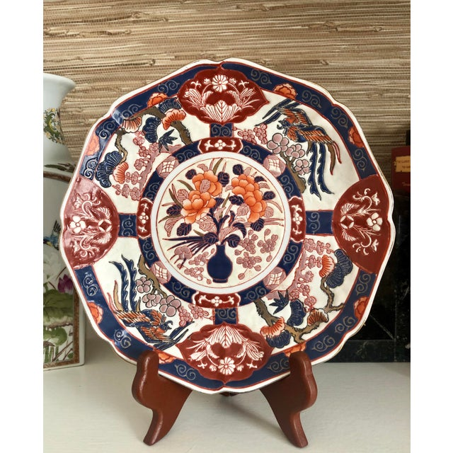Blue Andrea by Sadek Chinoiserie Purple Plate For Sale - Image 8 of 8