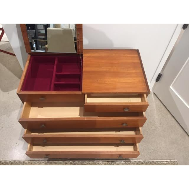 Italian Mid-Century Chest of Drawers With Vanity Mirror For Sale In Nashville - Image 6 of 13