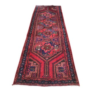 Late 20th Century Vintage Turkish Runner Rug - 3′7″ × 10′1″ For Sale