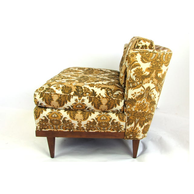 Mid-Century Upholstered Slipper Chairs - A Pair - Image 8 of 10