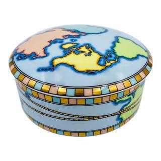 Vintage Tiffany & Co. Japan World Traveler Porcelain Box For Sale