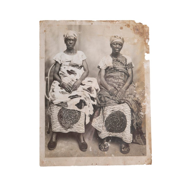 "19th Century Antique ""Untitled"" (Two Women) Gelatin Silver Print For Sale"