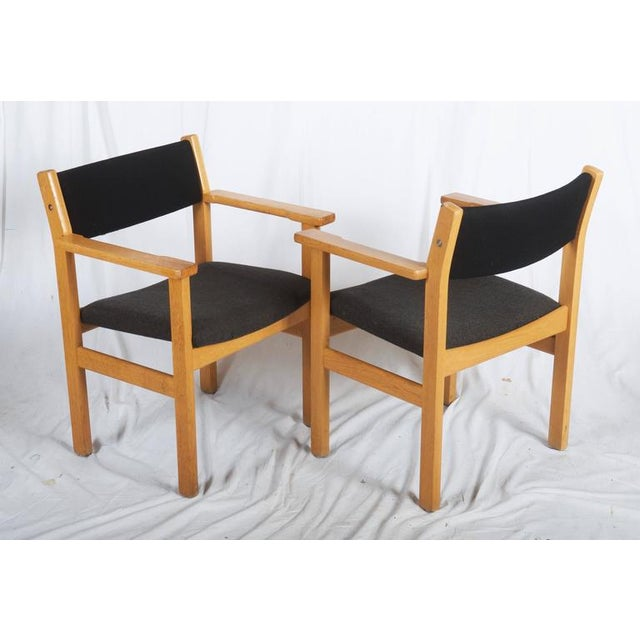 Vintage Armchairs by Hans J. Wegner for Getama - A Pair For Sale - Image 6 of 7