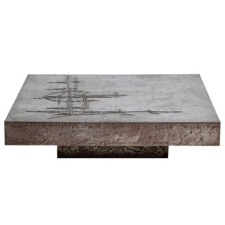 Brutalist Coffee Table by Marc D'haenens,Belgium For Sale