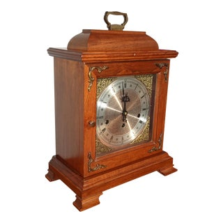 Vintage Hamilton Mantle Clock Made in West Germany For Sale