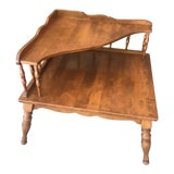 Image of Ethan Allen Early American Two Tier Corner Table For Sale