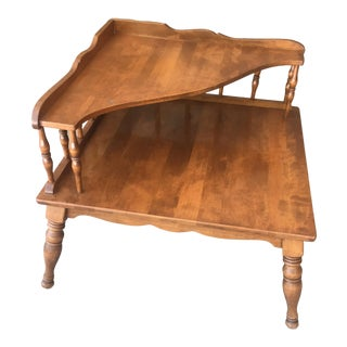 Ethan Allen Early American Two Tier Corner Table For Sale