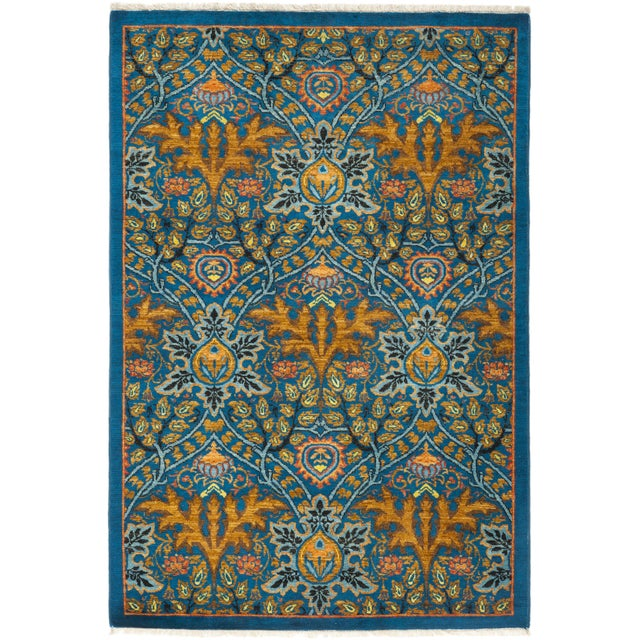 """Macau, Eclectic Area Rug - 4' 3"""" X 6' 1"""" For Sale - Image 4 of 4"""