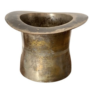 Brass Top Hat Ice Bucket For Sale