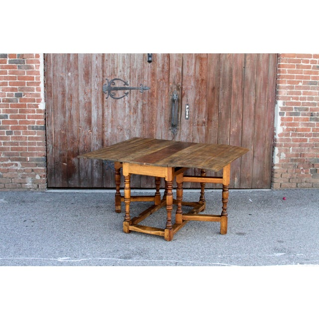 Spanish Colonial Folding Gateleg Table For Sale - Image 9 of 12