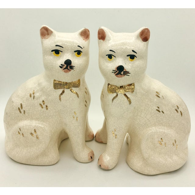 Staffordshire Cat Figurine - A Pair - Image 7 of 7