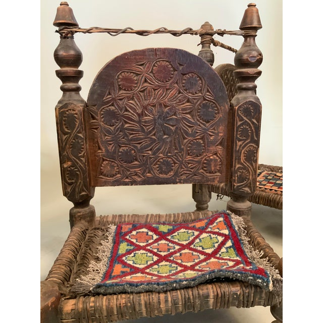 19th Century Tribal Bedouin Chairs - Set of 4 For Sale - Image 4 of 12
