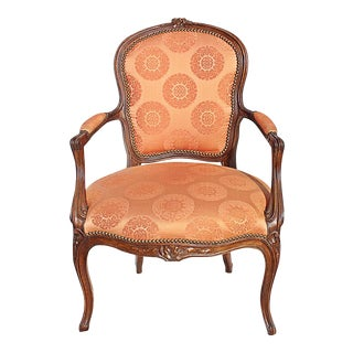 Late 19th Century French Louis XV Style Armchair For Sale