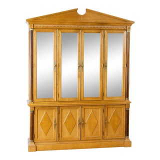 Stanley Furniture Illuminated China Cabinet For Sale
