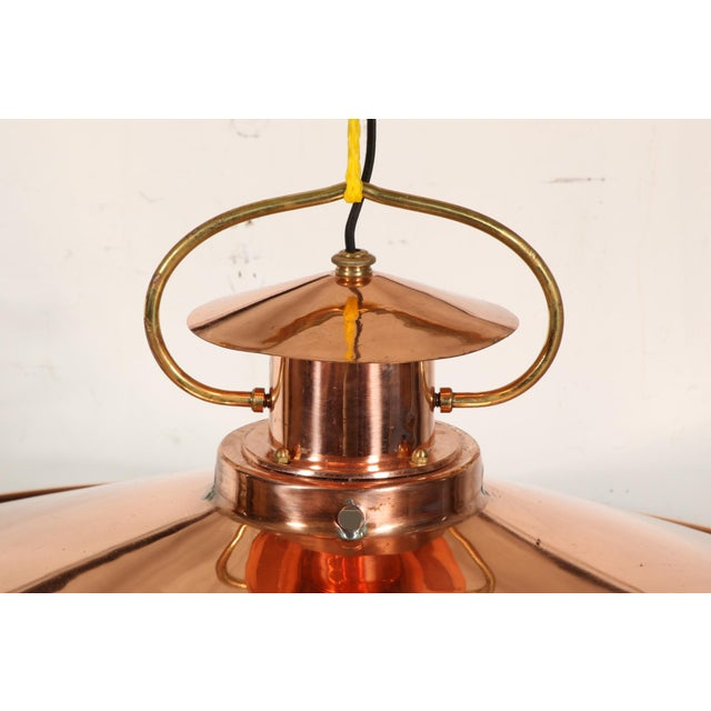 Early 20th Century Massive Industrial Era Copper Fixture For Sale - Image 5 of 6