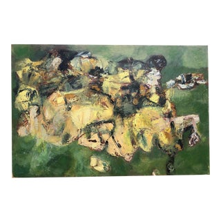 Mid-Century Modern Abstract Oil Painting by James Bone 1950s For Sale