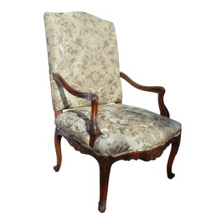 Late 19c French Provential Arm Chair For Sale